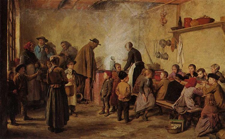 Die Armensuppe, 1893 - Albert Anker