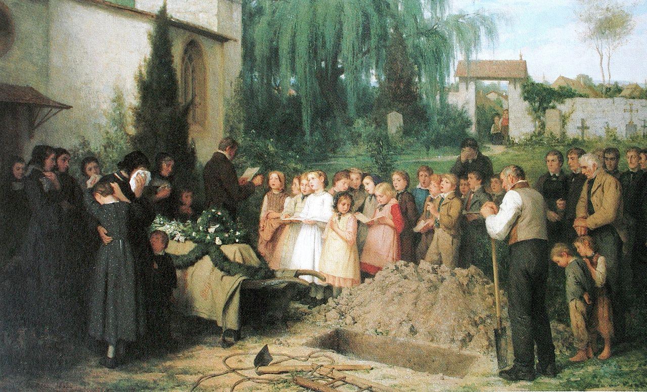 Kinderbegräbnis, 1863