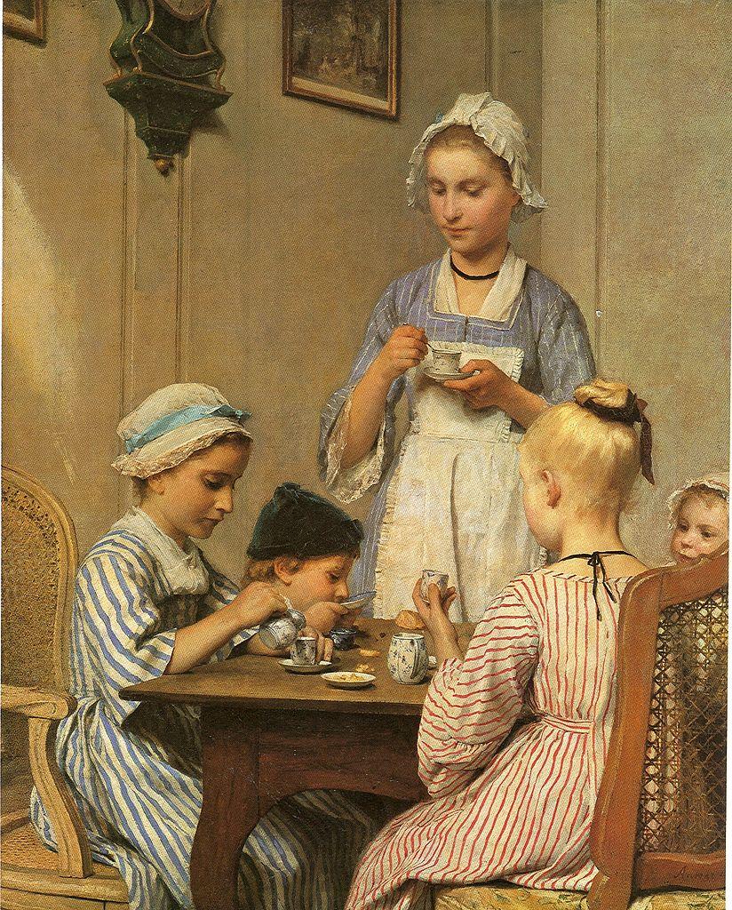 Kinderfrühstück, 1879
