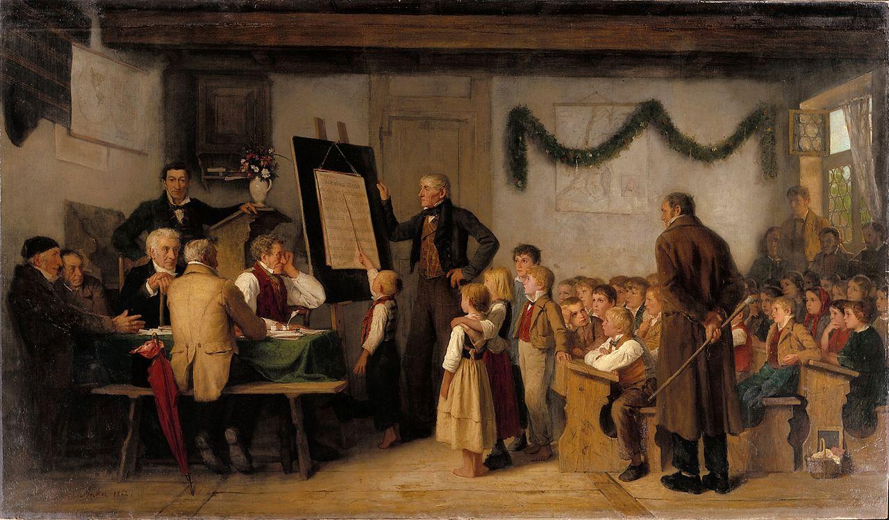 The school exam, 1862