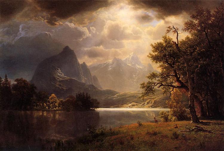 Estes Park Colorado 1869 Albert Bierstadt Wikiart Org