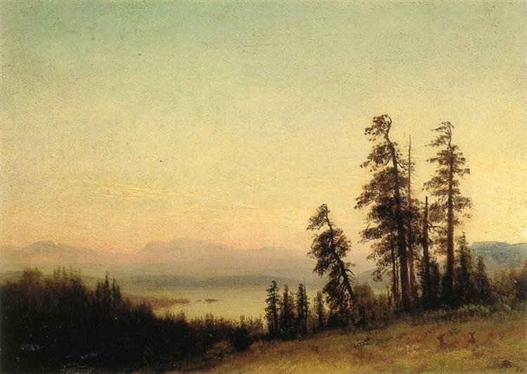Landscape With Deer, 1876 - Albert Bierstadt