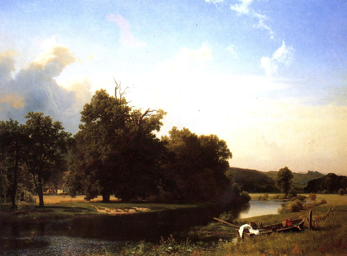 ALBERT BIERSTADT POSTER Westphalia Farm Landscape