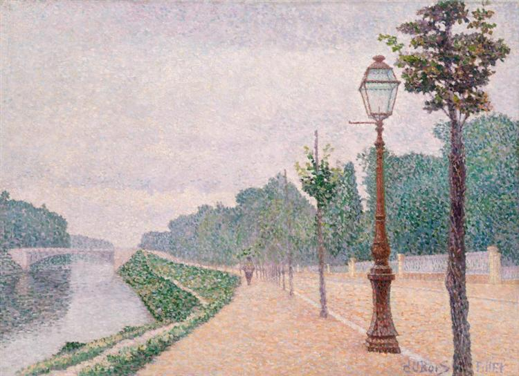 The Banks of the Seine at Neuilly, 1886 - Albert Dubois-Pillet