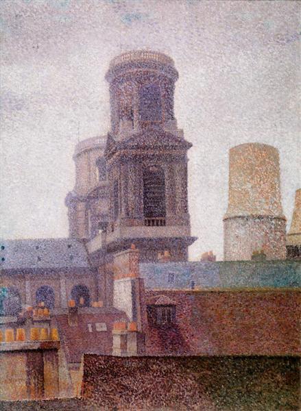 The Towers, Saint-Sulpice, 1887 - Albert Dubois-Pillet