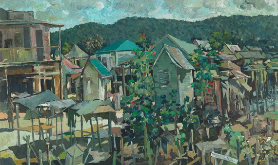 albert huie A signed limited edition offset lithograph on paper titled the lilies by listed jamaican artist albert huie (1920-2010), dated 1996 the work depicts a.