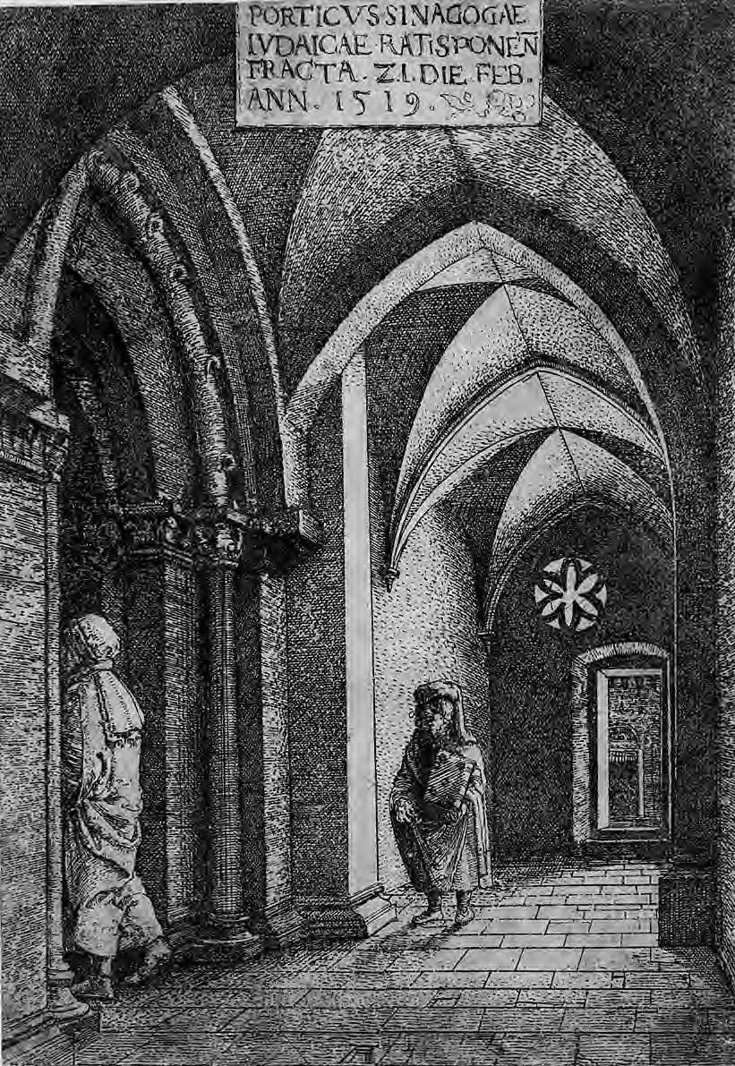 The Entrance Hall of the Regensburg Synagogue, 1519