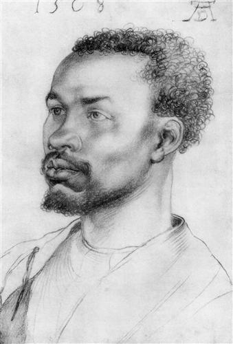Albrecht Dürer, Kopf eines Afrikaners (Head of an African Man).