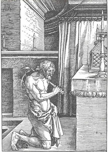 King David does repentance - Albrecht Durer