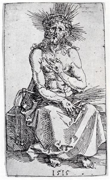 Man Of Sorrows, Seated, 1515 - Albrecht Durer