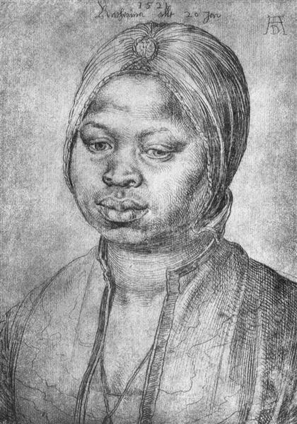 Portrait of African woman Catherine, 1521 - Albrecht Durer