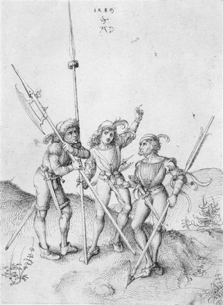 Soldiers, 1489 - Albrecht Durer