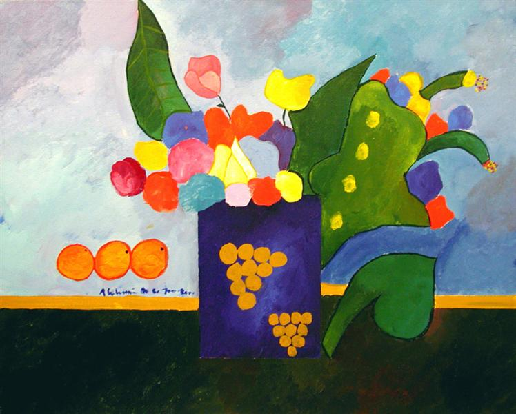 Vase With Flowers and Fruit, 2001 - Aldemir Martins