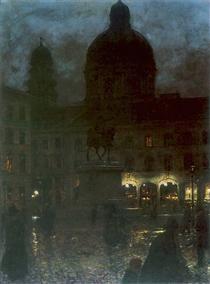 Plac Wittelsbachów w Monachium - Aleksander Gierymski