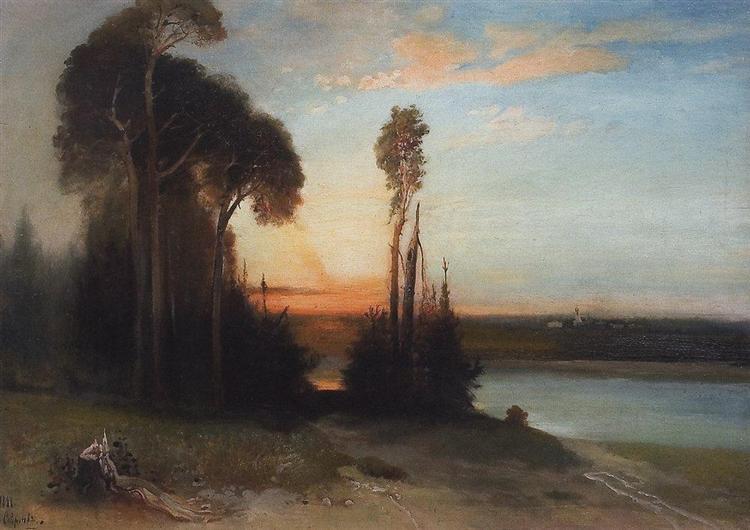 By evening, 1886 - Aleksey Savrasov