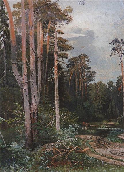 Forest road in Sokolniki, c.1860 - Aleksey Savrasov