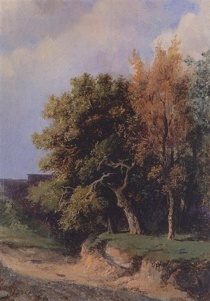 Landscape with road, 1855 - Aleksey Savrasov
