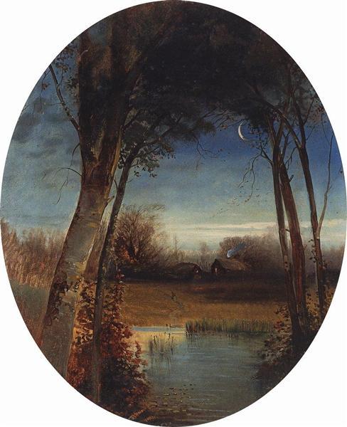 River landscape, 1880 - c.1890 - Aleksey Savrasov
