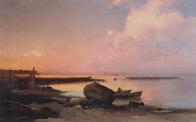 Sea shore in the vicinity Oranienbaum, 1854 - Aleksey Savrasov