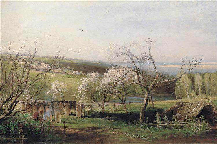 Spring, Village View, 1867 - Aleksey Savrasov
