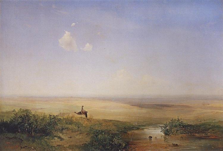 Daytime in the Steppes, 1852 - Aleksey Savrasov