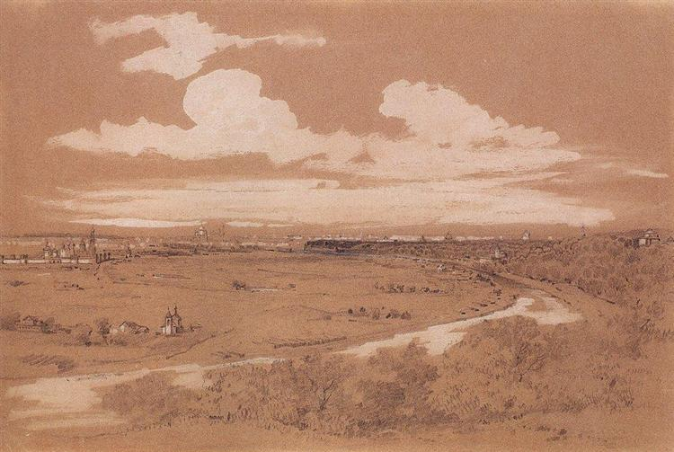 View of Moscow from Sparrow Hills, c.1850 - Aleksey Savrasov