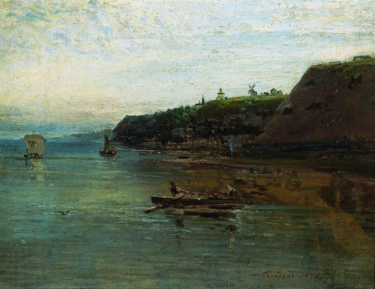 VolganearGorodets, 1870 - Aleksey Savrasov