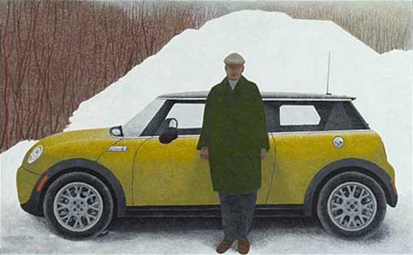Artist and Car, 2008 - Alex Colville
