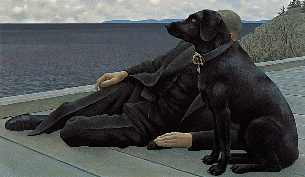 Dog and Priest, 1978 - Alex Colville