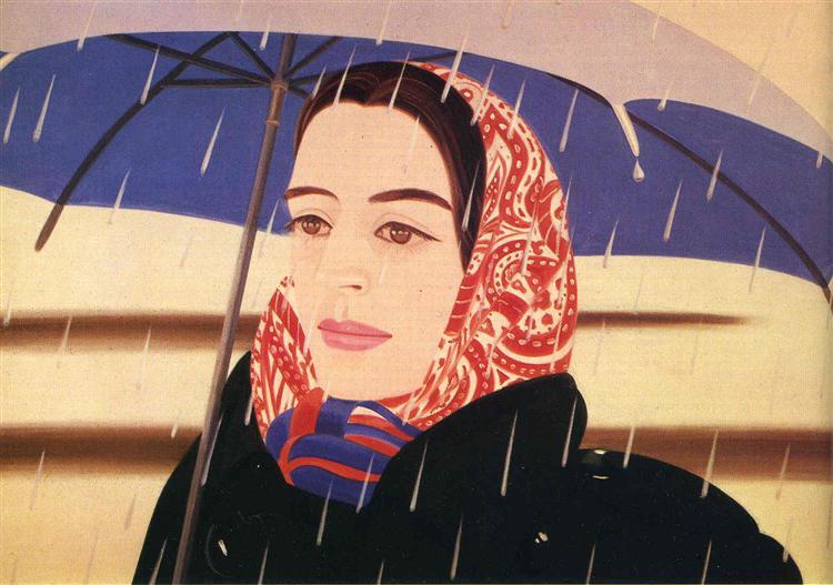 Blue Umbrella - Alex Katz