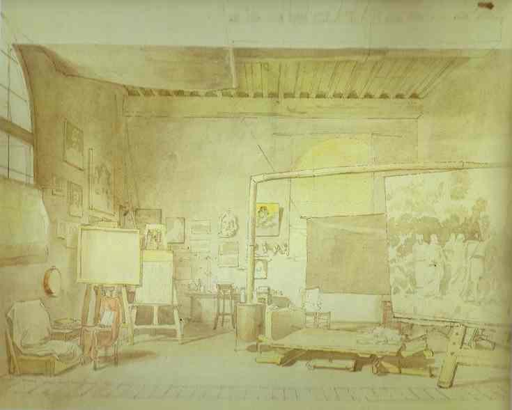 Artist's Workshop in Rome., 1830