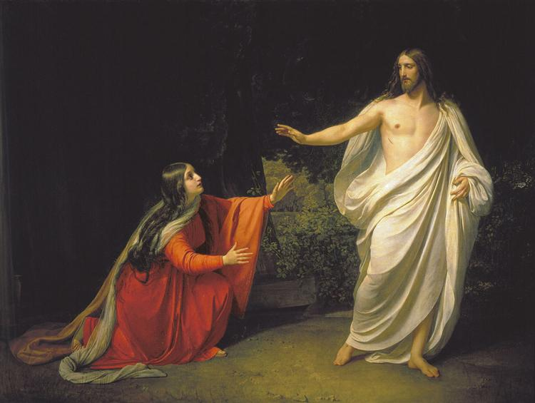 The Appearance of Christ to Mary Magdalene, c.1835 - Alexander Ivanov