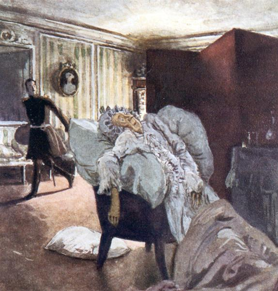 Death of the Countess, 1910 - Alexandre Benois