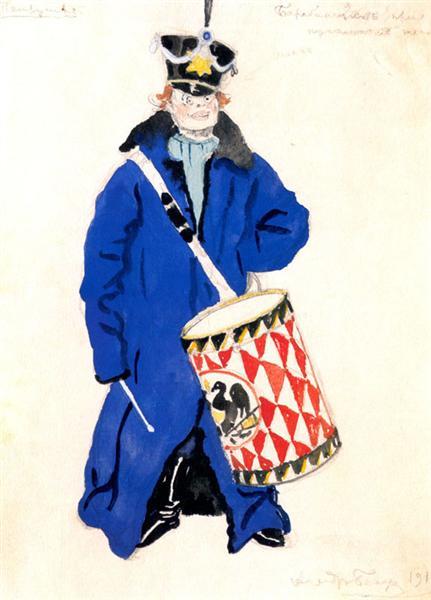 Drummer of a Puppetry, 1911 - Alexandre Benois