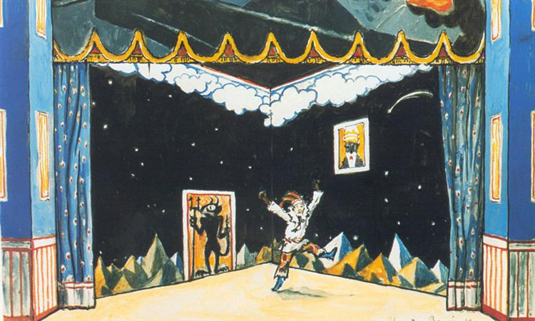 Petrushka's Chamber. Set Design - Alexandre Benois