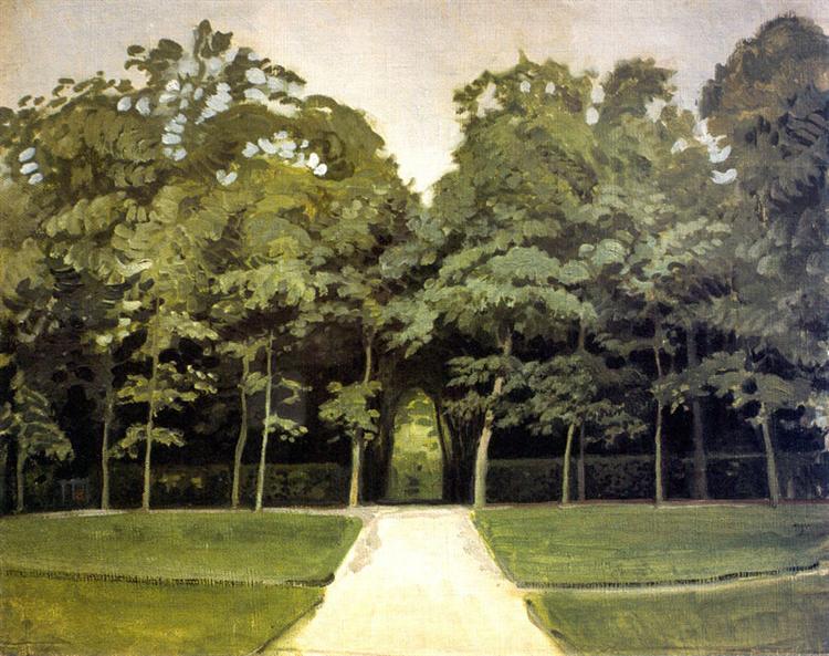Versailles. Alley, 1905 - 1906 - Alexandre Benois