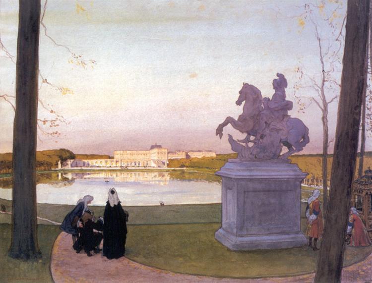 Versailles. At Curtius., 1897 - Alexandre Benois