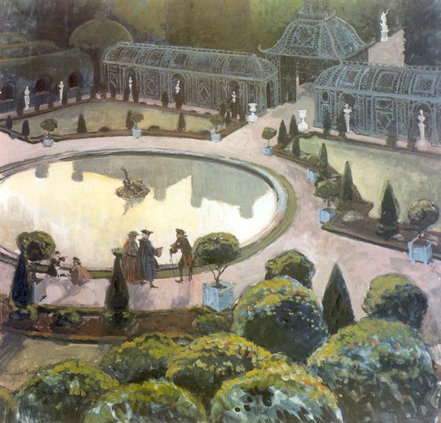 Versailles. Greenhouse, 1906 - Alexandre Benois