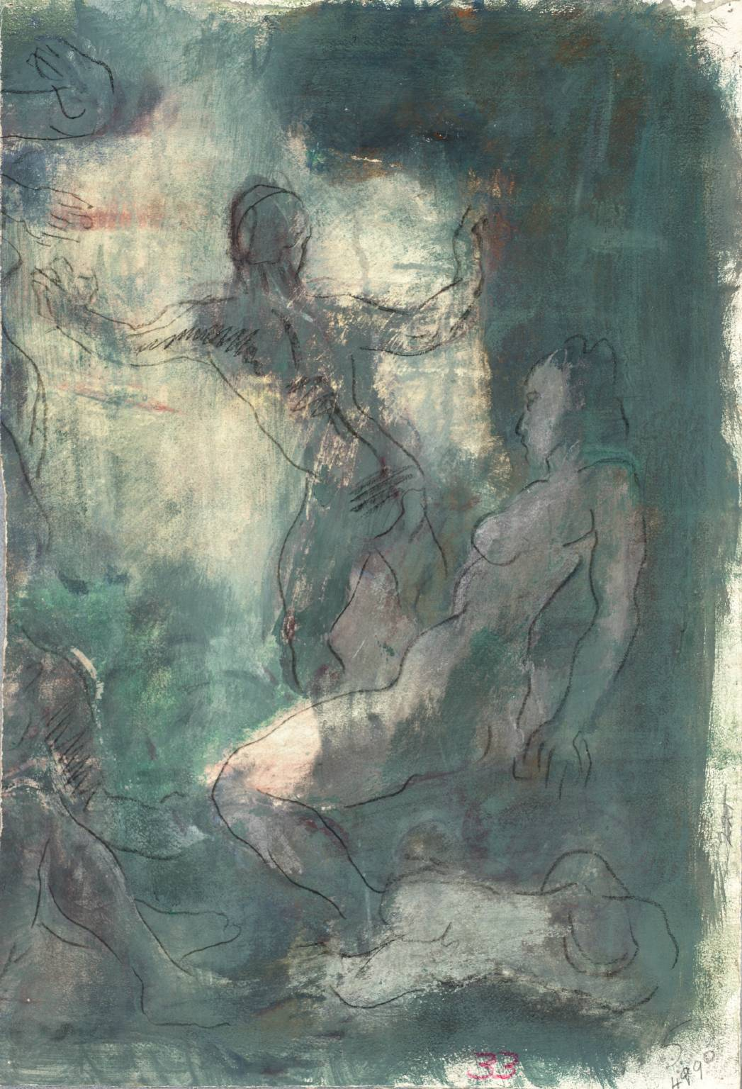 Nude Figures in a Room, 1938