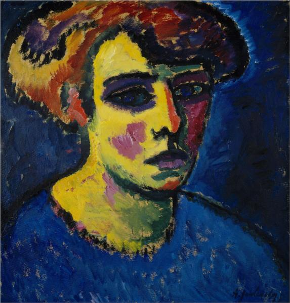 Head of a Woman - Alexej von Jawlensky