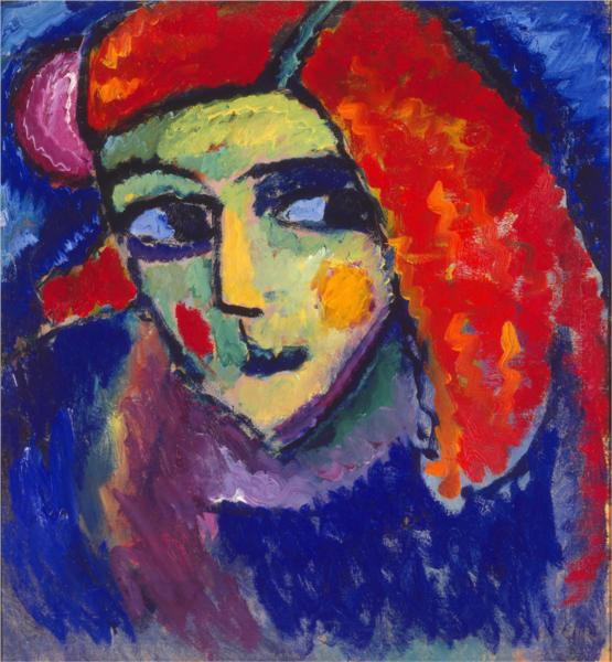 Pale Woman with Red Hair, 1912 - Alexej von Jawlensky