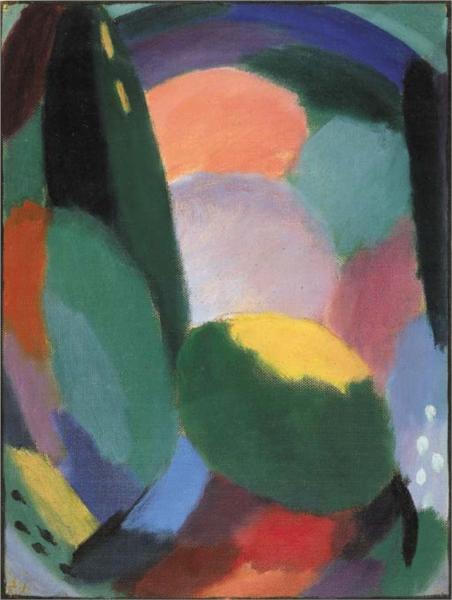 Variation: Glorreicher Abend - Sommersegen II, 1917 - Alekséi von Jawlensky