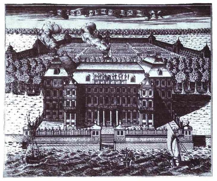 View of A. Menshikov's Palace on Vasilievsky Island, 1717 - Alexey Zubov