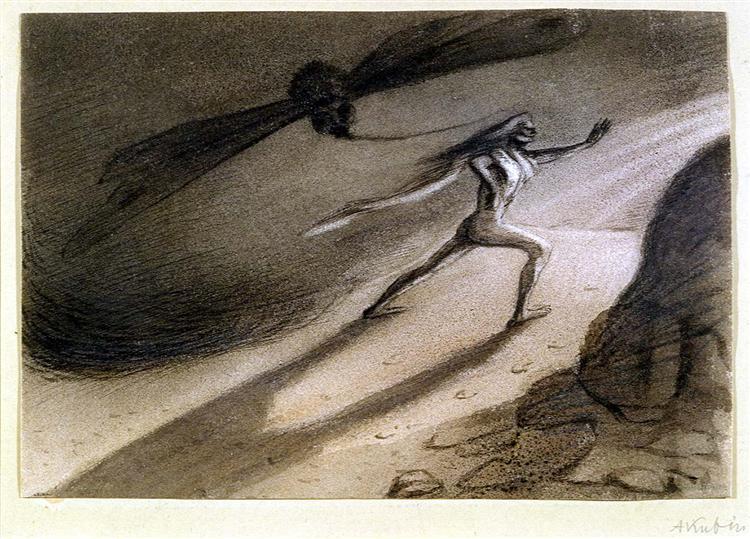 Man in a Storm, 1903 - Alfred Kubin