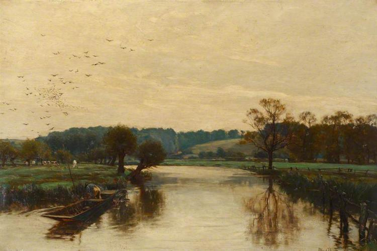 Morning on the Kennet - Alfred Parsons