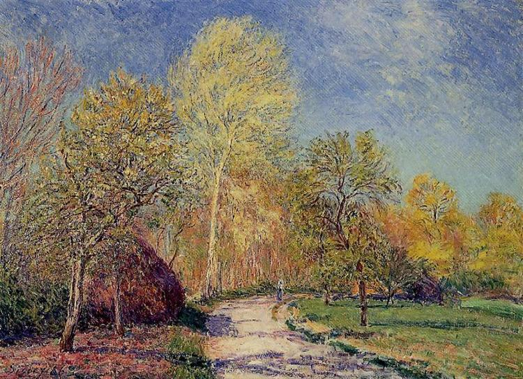 A May Morning in Moret, 1886 - Alfred Sisley