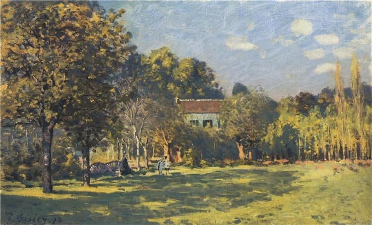 A Park in Louveciennes, 1874 - Alfred Sisley