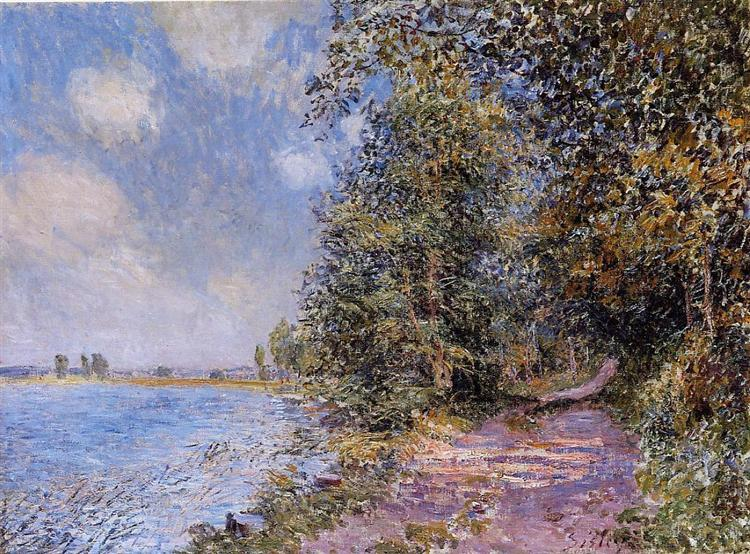 An August Afternoon near Veneux, 1881 - Alfred Sisley