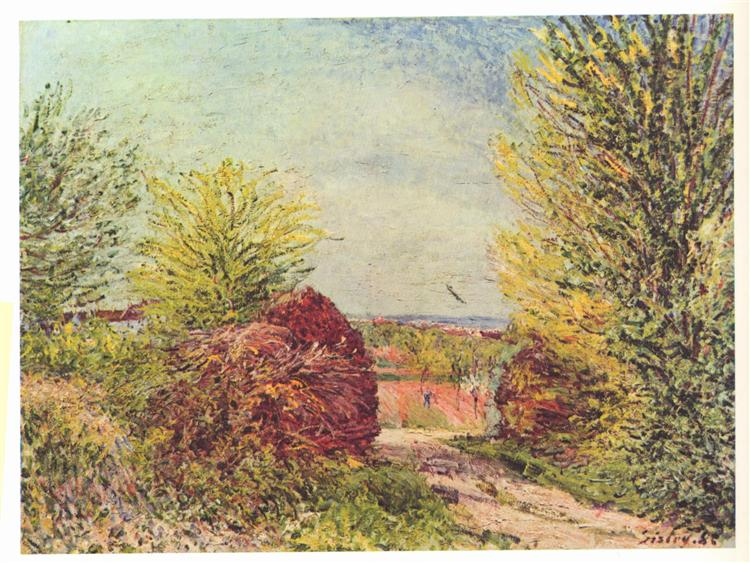 Away in the spring Veneux Nadon, 1885 - Alfred Sisley