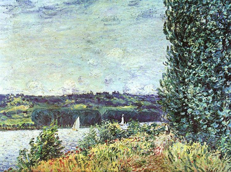 Banks of the Seine, Wind Blowing, 1894 - Alfred Sisley